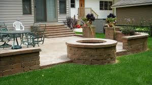 patio ideas with fire pit. Fire Pit Ideas For Outdoor Use Water Bench Patio With