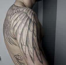 новыйl значение тату с крыльями ангела на спине руке шее для