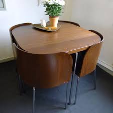 Table With Hidden Chairs Space Saving Dining Room Tables