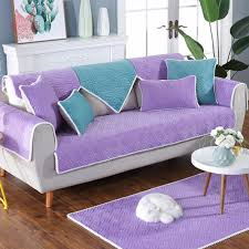 living room chair covers. Purple Blue Floral Quilted Plush Sofa Cover Cama Slipcovers For Living Room Furniture Covers Sectional Couch SP4887-in From Home \u0026 Garden Chair
