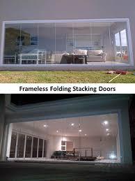 variety of frameless s curved glass frameless folding stacking doors