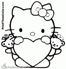 Hello Kitty Kleurplaat