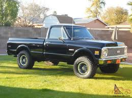 DEAD GORGEOUS BLACK 1971 CHEVY SHORT WIDE 4X4 LOADED