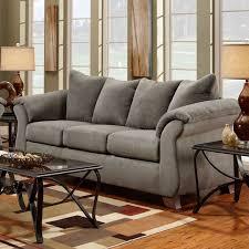 sensations gray microfiber sofa