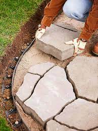 2 ways to install a flagstone paver