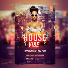 house vibe psd flyer template net do