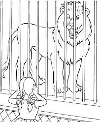 zoo cage coloring page. Wonderful Coloring Children Coloring Pages  Lion Zoo With Lions In Cages To Cage Page