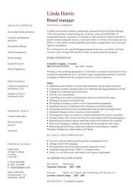 Brand Manager Resume Template Best of Brand Manager CV Sample Developing Plans And Executing Projects And