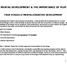 Piaget S Stages Of Cognitive Development Chart Pdf Chart Summary Of Stages Of Child Development Compares