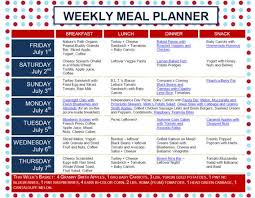 Weekly Meal Planning For One Weekly Nutrition Plan Magdalene Project Org