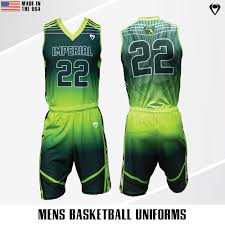 Basketball Jersey Design White Green Custom Mens Basketball Uniforms And Jerseys Imperial Point