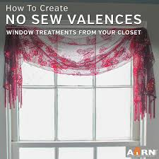 no sew window treatments creative valances from your own wardrobe