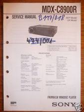 sony mdx c service manual sony mdx c8900r mini disc player original