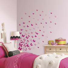 bedroom wall design. Full Size Of Kids Room:pink Flutter Butterflies Peel And Stick Wall Decals For Girls Bedroom Design
