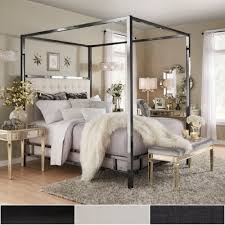 Solivita Full-Sized Canopy Black Nickel Metal Poster Bed by iNSPIRE Q Bold  - Free Shipping Today - Overstock.com - 20696574