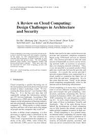 Architectural Design Challenges In Cloud Computing Pdf A Review On Cloud Computing Design Challenges In