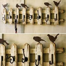 8 Hook Coat Rack 100 Hook Picket Fence Coat Rack With Birds Antique Farmhouse 25