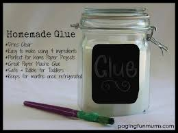 Homemade Glue - Perfect for home paper crafts like Paper Mache and so easy  to make