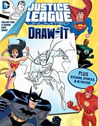 dc justice league draw it love to draw