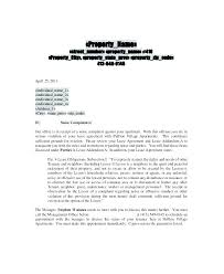 Complaint Letter To Landlord Template Complaint Letter To Landlord About Neighbor Noise Template Meaning