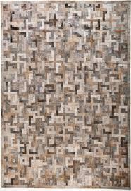 eternity brown grey modern leather area rug