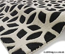black and cream rug. Fusion Black Cream Rug FS04 Larger Image And