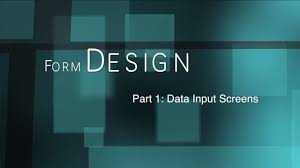 Guidelines For Data Entry Screen Design Form Design 1 Data Input Screens