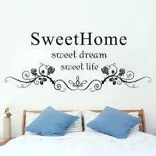 dream wall art black flowers rattan mural headboard sticker decor sweet home life big princess a