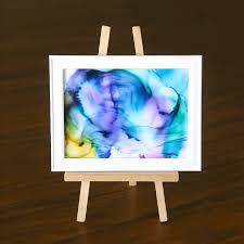 this fired alcohol ink art is so cool it s easy enough for kids to do
