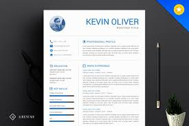 One Page Modern Resume Template Resume Templates Creative Market