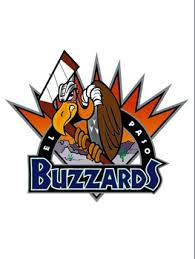 the logo design for the el paso buzzards of the western professional hockey league now