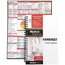 Nurse Charting Cheat Sheet Pocket Nurse Report Sheet Notebook Brain Sheet Template For Medsurg Nurses And Cna