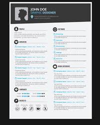 Resume For Graphic Designer 9 Template Free Vector