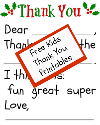 Free Children's Thank You Printable | The Happier Homemaker