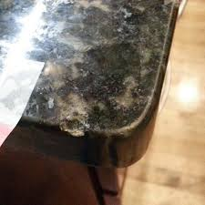 crystalline granite counter chip on edge before repair