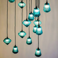 handmade blown glass pendant lamp float collection by sklo view in gallery glass bead pendant light by tom dixon