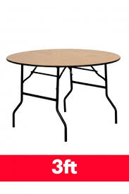 3ft round folding table profile