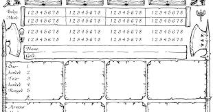 hero forge character sheet ye olde inns community blog on heroquest custom character sheet