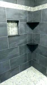 river rock bathroom floor shower tile ideas full size of home design niche problems si