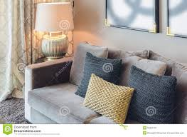 pillows for grey couch. Simple Couch Download Gold And Black Color Pillows On Grey Sofa Stock Image  Of  Lifestyle For Couch