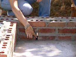 continue laying brick until all courses are done