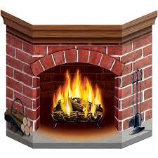 fireplace from a card board box google search