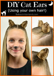 Cat Hair Style cat ears using your own hair 2 halloween hairstyle babes in 6205 by stevesalt.us