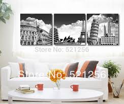 3 piece free home decoration wall art printed canvas oil painting picture paris new york