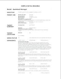Sample Resume For Retail Manager Cool ⛃ 48 Resume For Store Manager Position