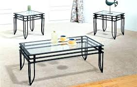 glass coffee table set of 3 brilliant 3 piece glass coffee table sets living room set