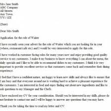 cover letter examples for waitress college cover letter examples for waitress entrancing waiter cover letter waitress application