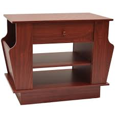 storage side end table with rack large mahogany oc8809s