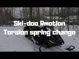 How To Ski Doo R Motion Torsion Spring Change Youtube