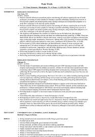 Research Technician Resume Research Technician Resume Samples Velvet Jobs 5